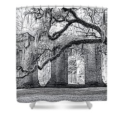 Old Sheldon Church - Side View Shower Curtain