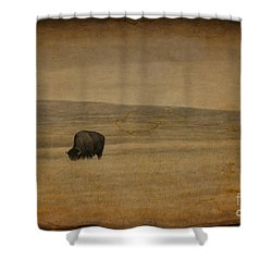 Western Themed South Dakota Bison  Shower Curtain