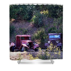 Oldtimers Rendezvous Shower Curtain by Lynn Bauer