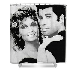 Olivia Newton John And John Travolta In Grease Collage Shower Curtain