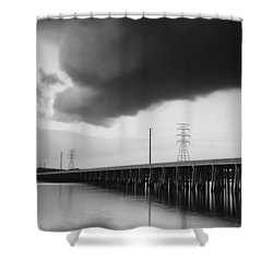 Ominous Cloud Shower Curtain by Phill Doherty