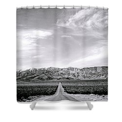 On The Road Shower Curtain by Shaun Higson