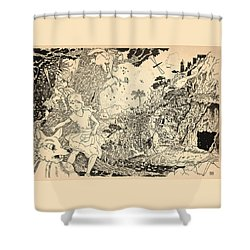 Shower Curtain featuring the drawing Open Sesame by Reynold Jay