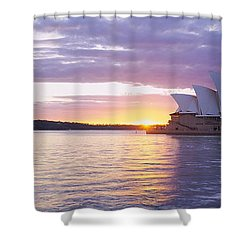 Opera House At The Waterfront, Sydney Shower Curtain by Panoramic Images