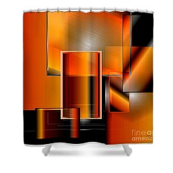 Orange Shower Curtain by Iris Gelbart