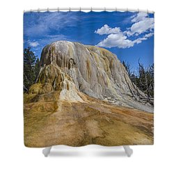 Orange Spring Mound Yellowstone National Park Shower Curtain