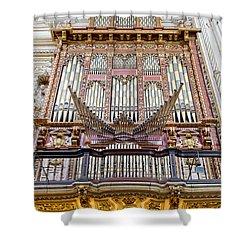 Organ In Cordoba Cathedral Shower Curtain by Artur Bogacki