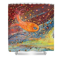 Original Painting Fragment 09  Shower Curtain by Elena Kotliarker
