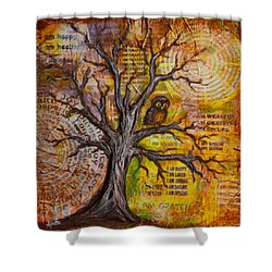 Wisdom Of Positive Thinking Shower Curtain