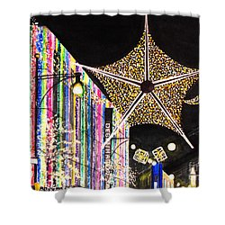 Shower Curtain featuring the painting Oxford Street London 2011 by Carol Flagg