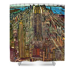 New York Mid Manhattan 71 Shower Curtain by Art America Gallery Peter Potter