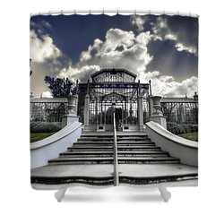 Palm House Shower Curtain by Wayne Sherriff