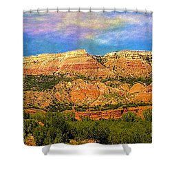 Shower Curtain featuring the photograph Palo Duro Canyon by Janette Boyd