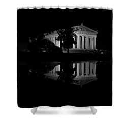 Parthenon Puddle Shower Curtain