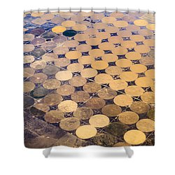 Patchworks. Aerial View To Texas's Fields Shower Curtain