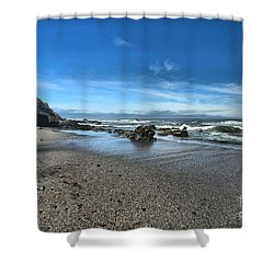 Patrick's Point Landscape Shower Curtain by Adam Jewell