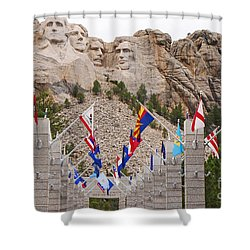 Patriotic Faces Shower Curtain by Mary Carol Story