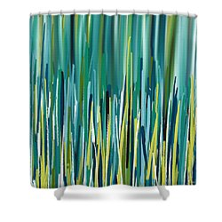 Peacock Spikes Shower Curtain