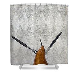 Pear Shower Curtain by Joana Kruse