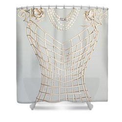 Pearls Shower Curtain by Margie Hurwich