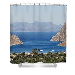 Pedi Bay Symi Shower Curtain