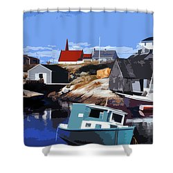 Peggy's Cove Shower Curtain by Lydia Holly