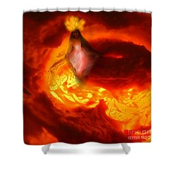 Pele Goddess Of Fire And Volcanoes Shower Curtain