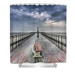 Penarth Pier 4 Shower Curtain by Steve Purnell