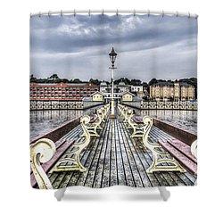 Penarth Pier 5 Shower Curtain by Steve Purnell