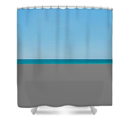 People On The Beach, Venice Beach, Gulf Shower Curtain by Panoramic Images