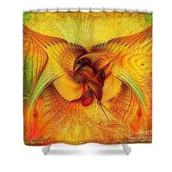 Phoenix Shower Curtain by Klara Acel