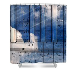 Piano Shower Curtain by Bruno Haver