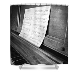 Piano Man Shower Curtain by Jerry Cordeiro