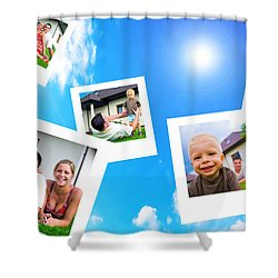 Pictures Of Happy Family Shower Curtain by Michal Bednarek
