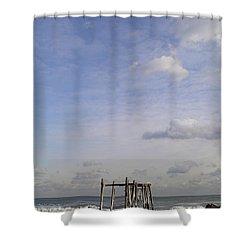Pier Sky Shower Curtain
