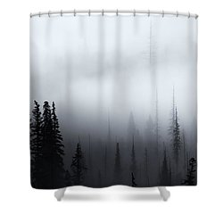 Piercing The Clouds Shower Curtain by Mike  Dawson