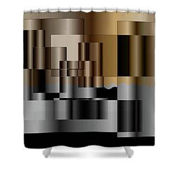 Pipes Shower Curtain by Iris Gelbart