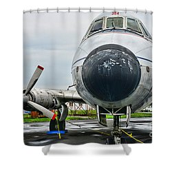 Plane Noses Up Shower Curtain by Paul Ward
