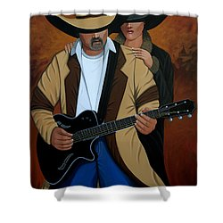 Play A Song For Me Shower Curtain by Lance Headlee