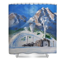 Plowing Home Shower Curtain by Christopher Jenkins