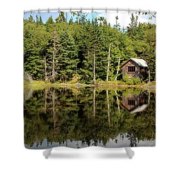 Pond Along The At Shower Curtain