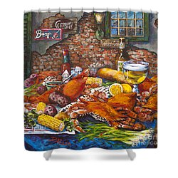 Pontchartrain Crabs Shower Curtain by Dianne Parks