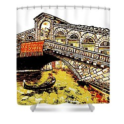 An Iconic Bridge Shower Curtain by Loredana Messina