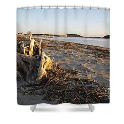 Popham Beach State Park - Phippsburg Maine Usa Shower Curtain by Erin Paul Donovan
