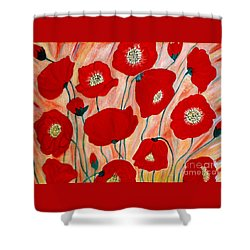 Poppies. Inspirations Collection. Shower Curtain