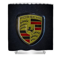Porsche Logo Shower Curtain