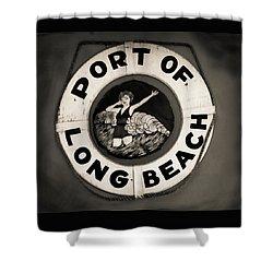 Port Of Long Beach Life Saver Vin By Denise Dube Shower Curtain
