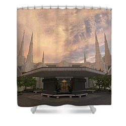 Portland Temple Shower Curtain