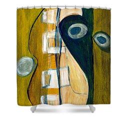 Portrait Of A Humble Man Shower Curtain