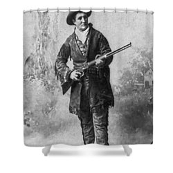 Portrait Of Calamity Jane Shower Curtain by Underwood Archives